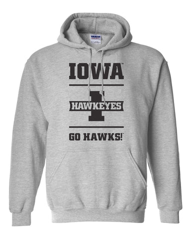 Iowa Hawkeyes Hooded Sweatshirt - Iowa Hawkeyes - Go Hawks