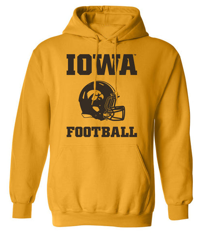 Iowa Hawkeyes Hooded Sweatshirt - Iowa Football Helmet