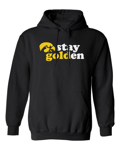 Iowa Hawkeyes Hooded Sweatshirt - Hawkeyes Stay Golden