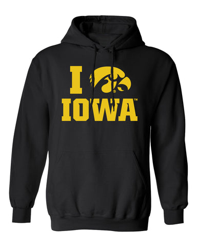 Iowa Hawkeyes Hooded Sweatshirt - I Love IOWA