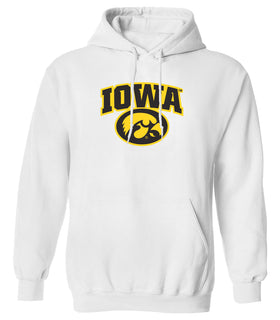 Iowa Hawkeyes Hooded Sweatshirt - IOWA Oval Tigerhawk Logo