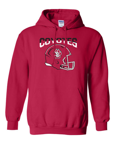 South Dakota Coyotes Hooded Sweatshirt - USD Football Helmet