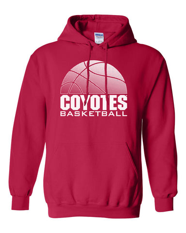 South Dakota Coyotes Hooded Sweatshirt - Coyotes Basketball