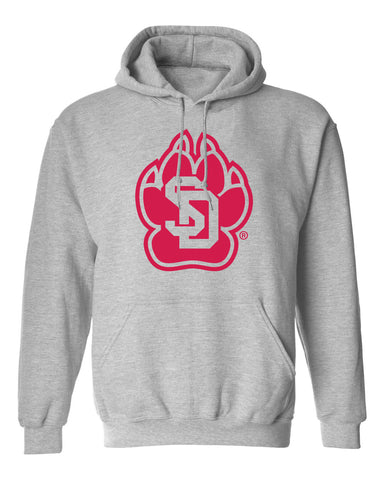 South Dakota Coyotes Hooded Sweatshirt - SD Coyote Paw