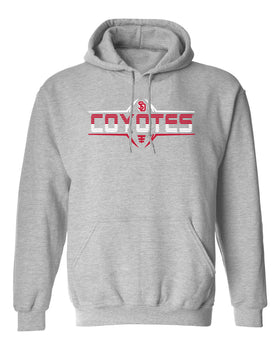 South Dakota Coyotes Hooded Sweatshirt - Striped COYOTES Football Laces