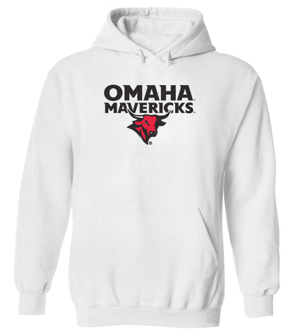 Omaha Mavericks Hooded Sweatshirt - Omaha Mavericks with Bull