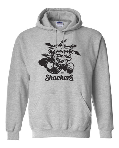 Wichita State Shockers Hooded Sweatshirt - WuShock Logo
