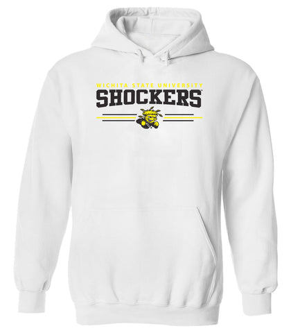 Wichita State Shockers Hooded Sweatshirt - Wichita State Shockers 3 Stripe