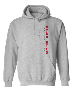Utah Utes Hooded Sweatshirt - Vertical Utah Utes