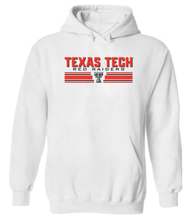 Texas Tech Red Raiders Hooded Sweatshirt - Double T Horiz Stripe