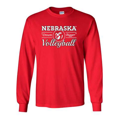 "Nebraska Huskers Volleyball ""Dream Bigger"" Long Sleeve Tee Shirt"