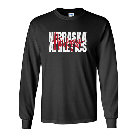 "Nebraska Athletics Legacy Script ""Huskers"" Long Sleeve Tee Shirt"