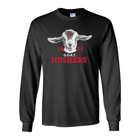 1995 Nebraska Huskers G.O.A.T. (Greatest of all Time) Long Sleeve Tee Shirt
