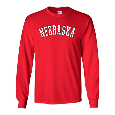 """NEBRASKA"" Arch Long Sleeve Tee Shirt"