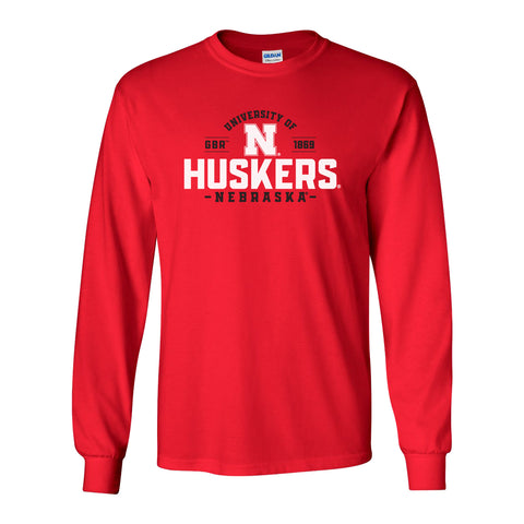 Nebraska Huskers Long Sleeve Tee Shirt - University of Nebraska Huskers N