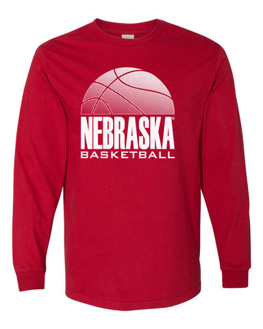 Nebraska Huskers Long Sleeve Tee Shirt - Nebraska Basketball