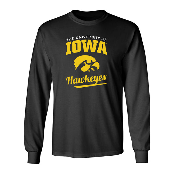 Iowa Hawkeyes Long Sleeve Tee Shirt - The University Of Iowa Script Hawkeyes