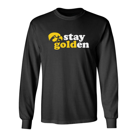 Iowa Hawkeyes Long Sleeve Tee Shirt - Hawkeyes Stay Golden