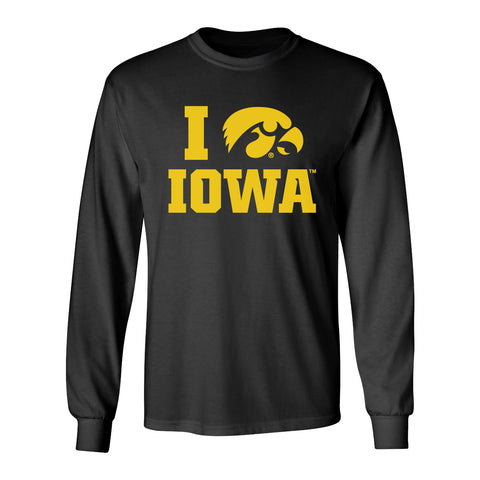 Iowa Hawkeyes Long Sleeve Tee Shirt - I Love IOWA