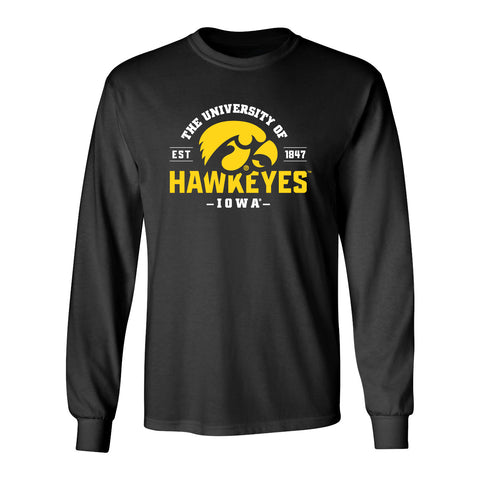 Iowa Hawkeyes Long Sleeve Tee Shirt - The University of Iowa Hawkeyes EST 1847