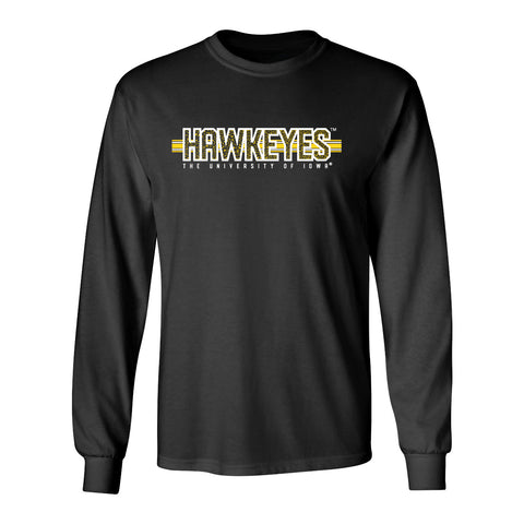Iowa Hawkeyes Long Sleeve Tee Shirt - Hawkeyes Horizontal Stripe