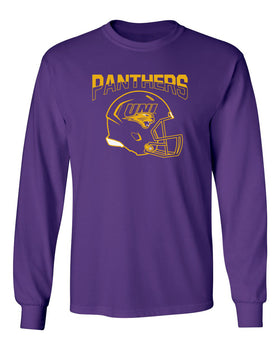 Northern Iowa Panthers Long Sleeve Tee Shirt - UNI Football Helmet