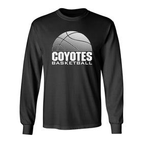 South Dakota Coyotes Long Sleeve Tee Shirt - Coyotes Basketball