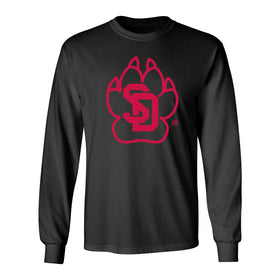 South Dakota Coyotes Long Sleeve Tee Shirt - SD Coyote Paw