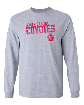 South Dakota Coyotes Long Sleeve Tee Shirt - Coyotes Stripe Fade