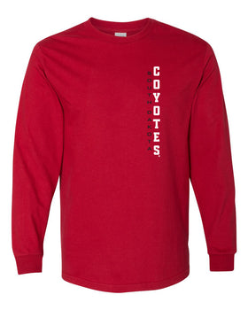South Dakota Coyotes Long Sleeve Tee Shirt - Vertical USD Coyotes