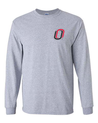 Omaha Mavericks Long Sleeve Tee Shirt - Trademarked O Logo - UNO Mavs
