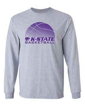K-State Wildcats Long Sleeve Tee Shirt - K-State Basketball