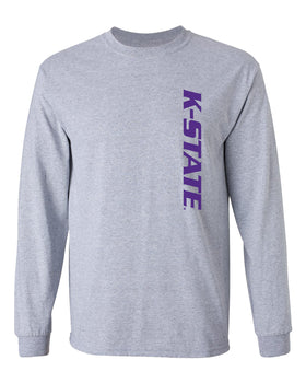 K-State Wildcats Long Sleeve Tee Shirt - K-State Vertical