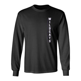 K-State Wildcats Long Sleeve Tee Shirt - Vertical KSU Wildcats