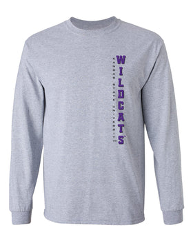 K-State Wildcats Long Sleeve Tee Shirt - Vertical Kansas State Wildcats