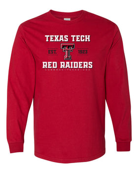 Texas Tech Red Raiders Long Sleeve Tee Shirt - Red Raiders Est 1923