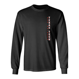 Texas Tech Red Raiders Long Sleeve Tee Shirt - Vertical Texas Tech