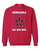 Nebraska Husker Sweatshirt Crewneck - Star N GO BIG RED