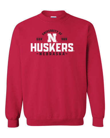 Nebraska Huskers Crewneck Sweatshirt - University of Nebraska Huskers N