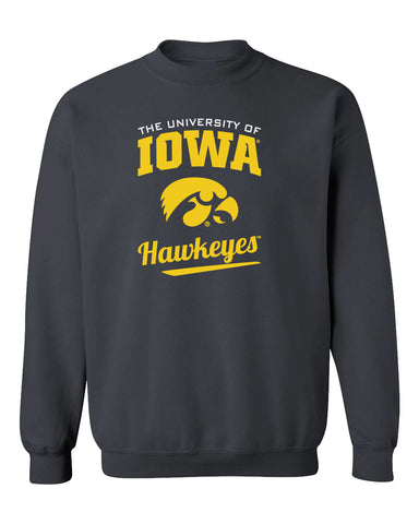 Iowa Hawkeyes Crewneck Sweatshirt - The University Of Iowa Script Hawkeyes