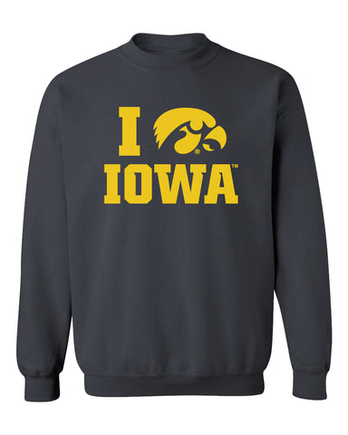 Iowa Hawkeyes Crewneck Sweatshirt - I Love IOWA