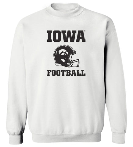 Iowa Hawkeyes Crewneck Sweatshirt - Iowa Football Helmet