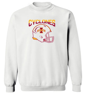 Iowa State Cyclones Crewneck Sweatshirt - ISU Cyclones Football Helmet