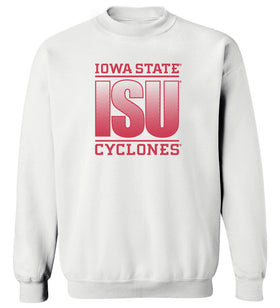 Iowa State Cyclones Crewneck Sweatshirt - Red ISU Fade