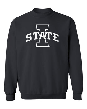 Iowa State Cyclones Crewneck Sweatshirt - I-State Primary Logo Blackout