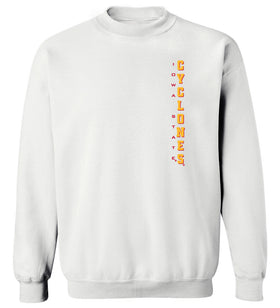Iowa State Cyclones Crewneck Sweatshirt - Iowa State Cyclones Vertical