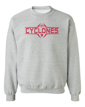 Iowa State Cyclones Crewneck Sweatshirt - Striped CYCLONES Football Laces