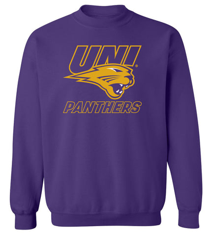 Northern Iowa Panthers Crewneck Sweatshirt - UNI Power Logo