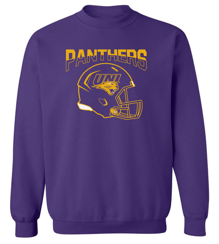 Northern Iowa Panthers Crewneck Sweatshirt - UNI Football Helmet