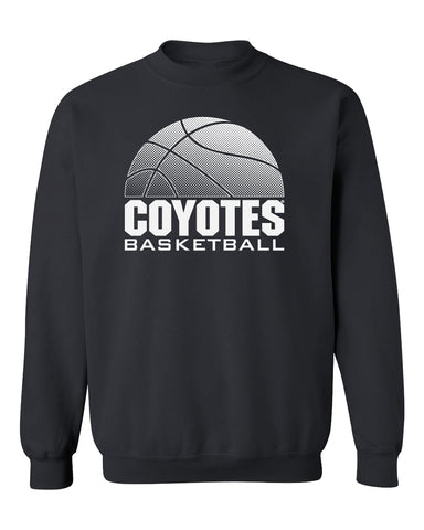 South Dakota Coyotes Crewneck Sweatshirt - Coyotes Basketball